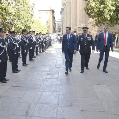 ©Ayto.Granada: El alcalde preside los actos de la festividad de la policía local, el Ángel Custodio
