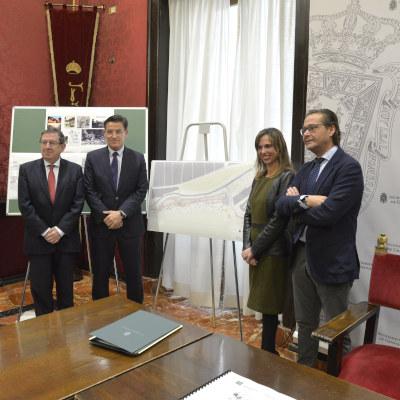 ©Ayto.Granada: Alcalde y directora de la Alhambra firman el convenio de arranque del proyecto Paseo Romayla que recuperará la ribera izquierda del Darro para disfrute ciudadano