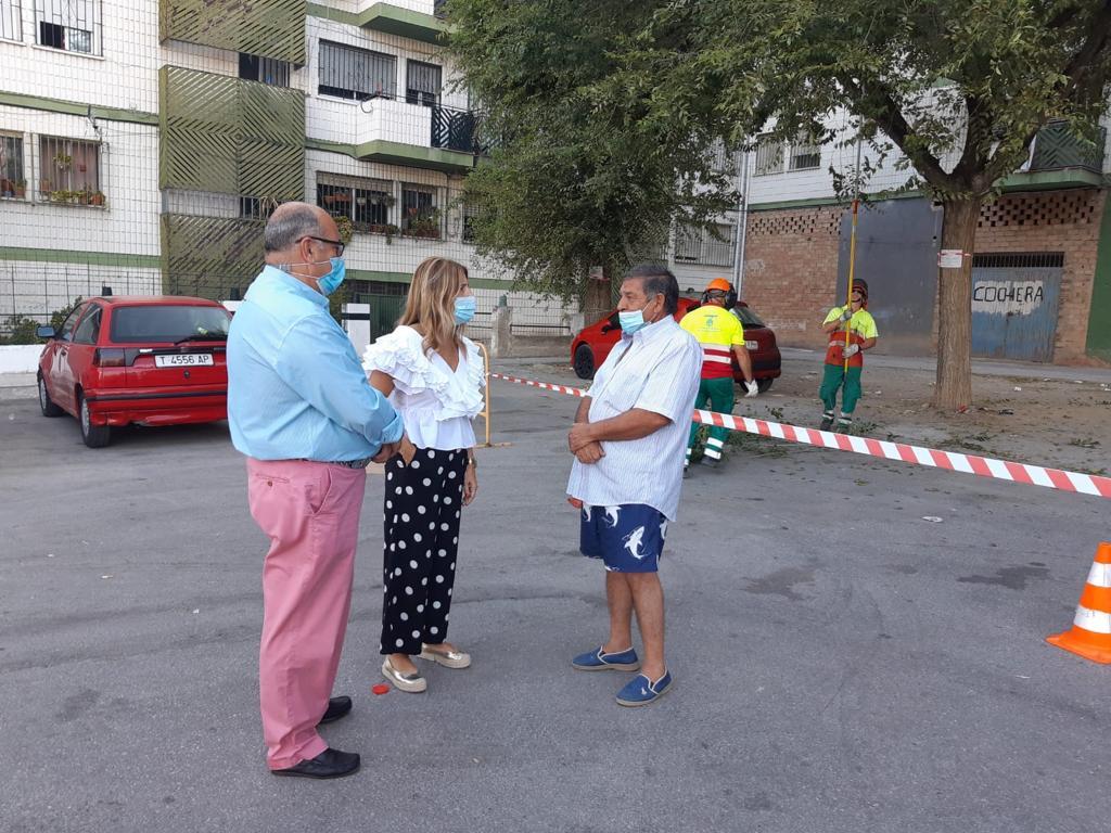 ©Ayto.Granada: El Ayuntamiento acomete un plan integral de limpieza, mantenimiento y ajardinado en Placeta del Rey Badis y Molino Nuevo en la zona Norte