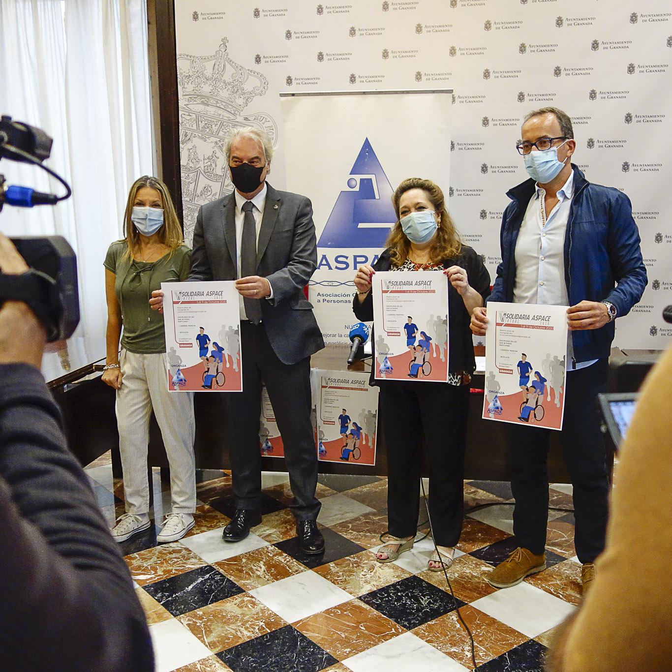 ©Ayto.Granada: Aspace presenta en el Ayuntamiento la V Marcha por la Parálisis Cerebral que este año tendrá formato virtural