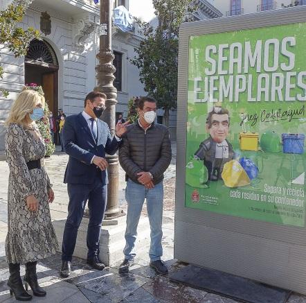 ©Ayto.Granada: El Ayuntamiento impulsa una campaña para la limpieza de la ciudad protagonizada por el juez de Menores Emilio Calatayud