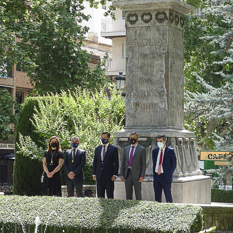 ©Ayto.Granada: GRANADA RINDE HOMENAJE EN EL 190 ANIVERSARIO DE SU ASESINATO A MARIANA PINEDA